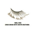 MONDA STUDIO  MSL-034 CRISS CROSS WITH WHITE FEATHER