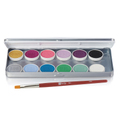 Ben Nye MagiCake Aqua Paints Palette 12 Colors - Fantasy