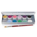 Ben Nye MagiCake Aqua Paints Palette 12 Colors - Fantasy