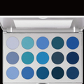 EYE SHADOW PALETTE 15 COLORS 'Smokey Blue'