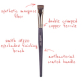 SmithCosmetics 220 EYESHADOW FINISHING BRUSH