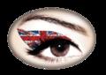 Violent Eyes - Union Jack Glitteratti