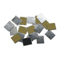 Z PALETTE  SQUARE METAL STICKERS 30CT