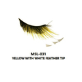 MONDA STUDIO MSL-031 YELLOW WITH WHITE FEATHERTIP