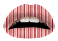 Peppermint Striped Lip Tattoo -- Violent Lips by sugar FACTORY (VL)