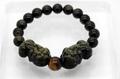 金運・魔よけに!貔貅(ひきゅう)ゴールデンシャインオブシディアン ブレスレット 10ミリ玉 天然石 パワーストーン