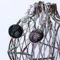 [MA1S-003]「マーブルP1号-S」・黒地漆銀糸撫子蕾模様