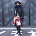 [VT1-017] 「ベストール1号」・赤地乱菊紅葉模様×黒留袖乱菊紅葉梅模様