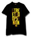 S.H.U;STRE ETHO OPSU NION Tシャツ/BLK(黒)&YLW(黄)