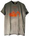 """CLOORS""AD14Tシャツ/Dark Heather x Burgundy(濃灰xえんじ)"
