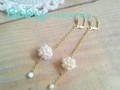 ★Moon pearl★ピアス Bebis accessories
