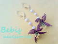 ★Flowering★ピアス・レッド&パープル系 Bebis accessories