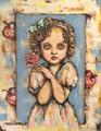 『Girl』アクリル画 「F3」キャンバス 額なし