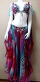 Anna Voronova purple Leopard フレアコスチューム、ベリーダンス衣装、フルコスチューム