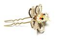 オカメインコ(ルチノー)               花かんざし