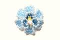 セキセイインコ(パイド)              フラワーブローチ