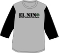 BLACKT-3/4sleeve baseball Tshirts