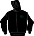 BSR ORIGINAL ZIPUP HOODIE-BLACK