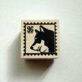スタンプ:st340 黒柴(切手風)