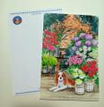 ポストカード:キャバリア「お花屋さん」