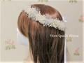 【オーダーメイド受付】チュールとカスミソウの花冠 花嫁様のための花冠