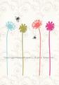 お花とハチのポストカード