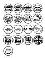 BMWミニリアワイパーホールLEDイルミネーションキャップ(既存デザイン)
