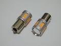 橙 S25/BAU15S(150°ピン角違い/シングル)Epistar 2835 LED/アンバー/オレンジ