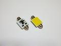 T8×28mm/1,5W POWER COB LED (15mm x 13mm) ホワイト/6000K/単品 1個