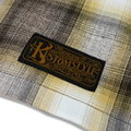 "KUSTOMSTYLE""CROSS COLLAR"" CHECK LS SHIRTS YELLOW"