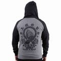 "FAMOUS STARS AND STRAPS フェイマススターズ&ストラップス ""PRAYED"" ZIP UP HOODIE HEATHER GREY"
