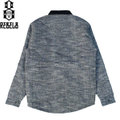 "REBEL8 レベルエイト ""CURB RATS"" QUILTED JACKET GREY キルティングジャケット"