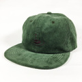 KAONKA CAP -CLEAR EMB CORDUROY CAP- LIGHT.OLIVE CORD/WINE