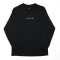 WKND L/S TEE -PATCHY- BLACK