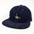 KAONKA CAP -CLEAR EMB CORDUROY CAP- NAVY CORD/TEA.GREEN