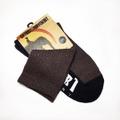 SATORI HEMP SOCKS -WARRIOR V2 CREW SOCK- BROWN/BLACK