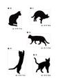 猫ステッカーB・黒