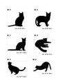猫ステッカーC・黒