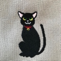 黒猫/刺繍サコッシュ【R-11】5,800円(税別)