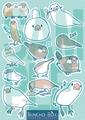文鳥シール青(BCB0004)
