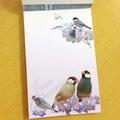 メモ帳「青い花と文鳥」(BCF0013)