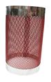 ネット ウィンドカバ Sサイズ (H15cm、DIA9㎝) 風防 Topless Windcover 水タバコ シーシャ [赤色]