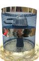 ネット ウィンドカバ Mサイズ (H17cm、DIA12㎝) 風防 Topless Windcover 水タバコ シーシャ [青色]