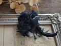 黒の布花ブローチ・アナベル
