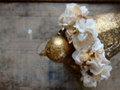 布花とカボションのブレスレット・キナリ