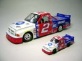 "#2 JasonLeffler   ""CAR QUEST"" teamASI                      '02 Dodge SuperTruck      ★ 1/18&1/64の2台セット!"