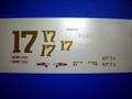 1/32 NASCAR スロットカ-用デカール              #17 DavidParson/EastTennMotorCo            '69Marcury                  ◆ウォータースライドデカール