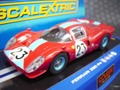 Scalextric 1/32 SlotCar   ◆Ferrari 330 P4 1967.    #23 Red/Blue             ★ヘッドライトとテールが点灯します。★希少!