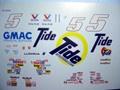 """1/32スロットカー用 NASCARデカール  ◇#5 RickyRudd """"Tide""""    Chevroret Monte Carlo SS           ◆ウォータースライドデカール"""