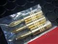 1/32スロットカー コントローラーパーツ  ◆ゴールド・メタルプラグ  レース用バナナジャック   3本set/人気商品